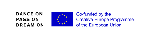 Logo 'Dance On Pass On Dream On co-funded by Creative Europe Programme of the European Union'